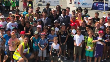 «Des footballeurs professionnels découvrent le RAQBALL » Golfe Juan, 20 août 2019