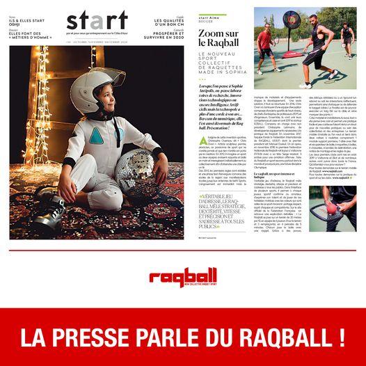 Zoom sur le Raqball avec le journal START :