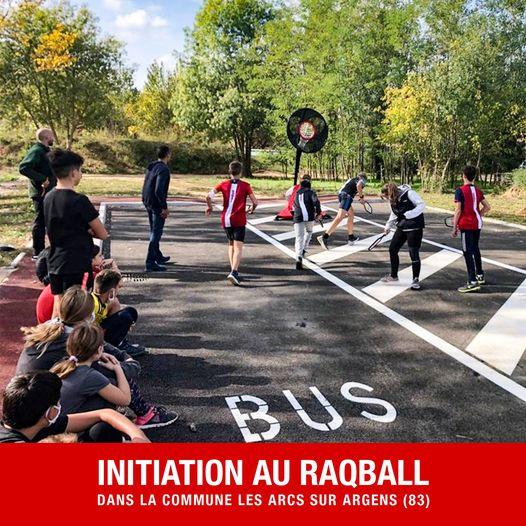 Initiation au RAQBALL avec le service des sports de la commune LES ARCS SUR ARGENS (83).